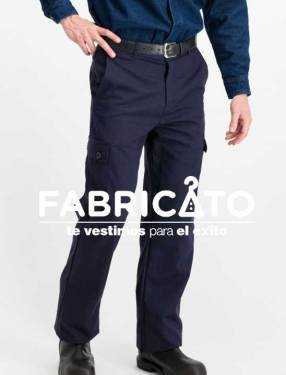 Pantalón carpintero tipo cargo color azul marino