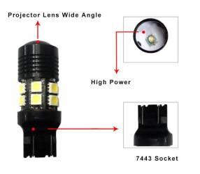 T20 led para stand para luz de freno Toyota y otros