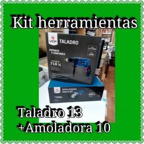 Taladro 13 +Amoladora 10