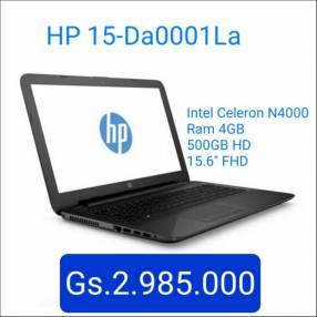 Notebook HP 15-DA0001la Intel Celeron
