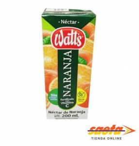 Jugo Néctar Watt's naranja 200 ml pack x 6 unidades