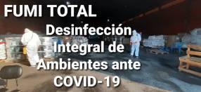 Desinfección y sanitización contra Covid-19