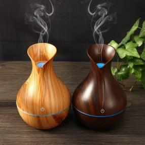 Humidificador y aromatizador símil madera con luces led