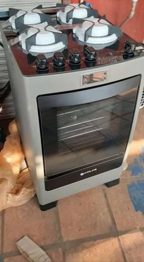 Cocina atlas 4h a gas inox encanto glass
