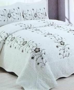 Cubre cama color marfil