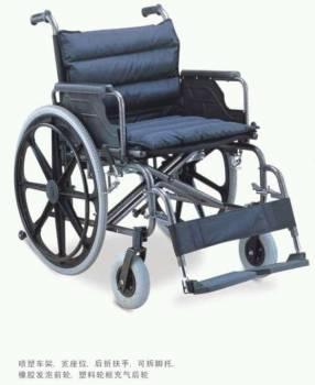 Silla de ruedas reforzada acolchada