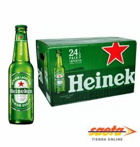 Cerveza Heineken botellita 250 ml caja 24 unidades
