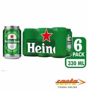 Cerveza Heineken lata 330ml x 6 unidades