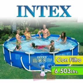 Piscina estructura metálica 6.503 litros Intex 28212