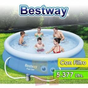 Piscina Borde Inflable - 5.377 Ltr - Bestway - 57274 + Filtr