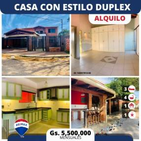 Casa con estilo duplex en Luque