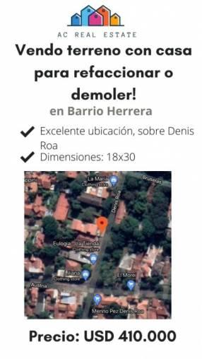 Terreno en Barrio Herrera!
