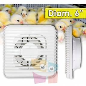 Ventilador para incubadora de huevos 6 pulgadas 20 Watts