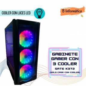 Gabinete Gamer Sate k372 3 coolers ATX