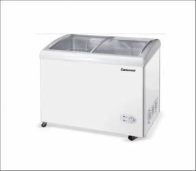 Congelador consumer 400 l tapa de vidrio