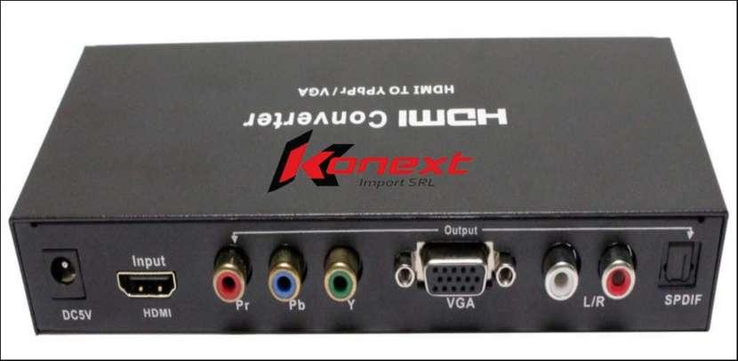 Conversor HDMI a VGA o vídeo componente audio digital o Rca - 1