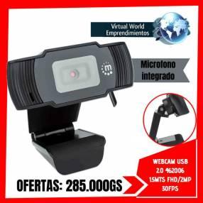 Webcam usb 2.0 Manhattan 1.5 metros FHD/2MP 30FPS micrófono incorporado