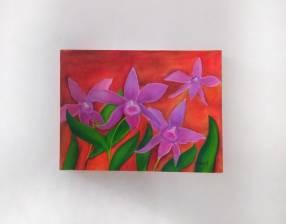 Pintura decorativa de orquídeas