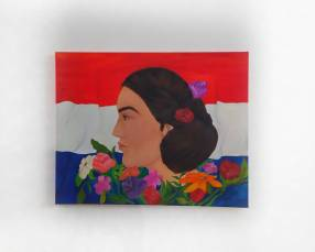 Pintura decorativa Mujer Paraguaya
