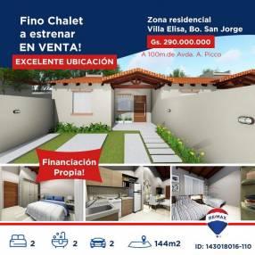 Chalet a estrenar de 2 habitaciones en Villa Elisa