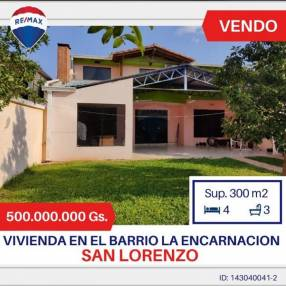 Casa en barrio La Encarnación en San Lorenzo