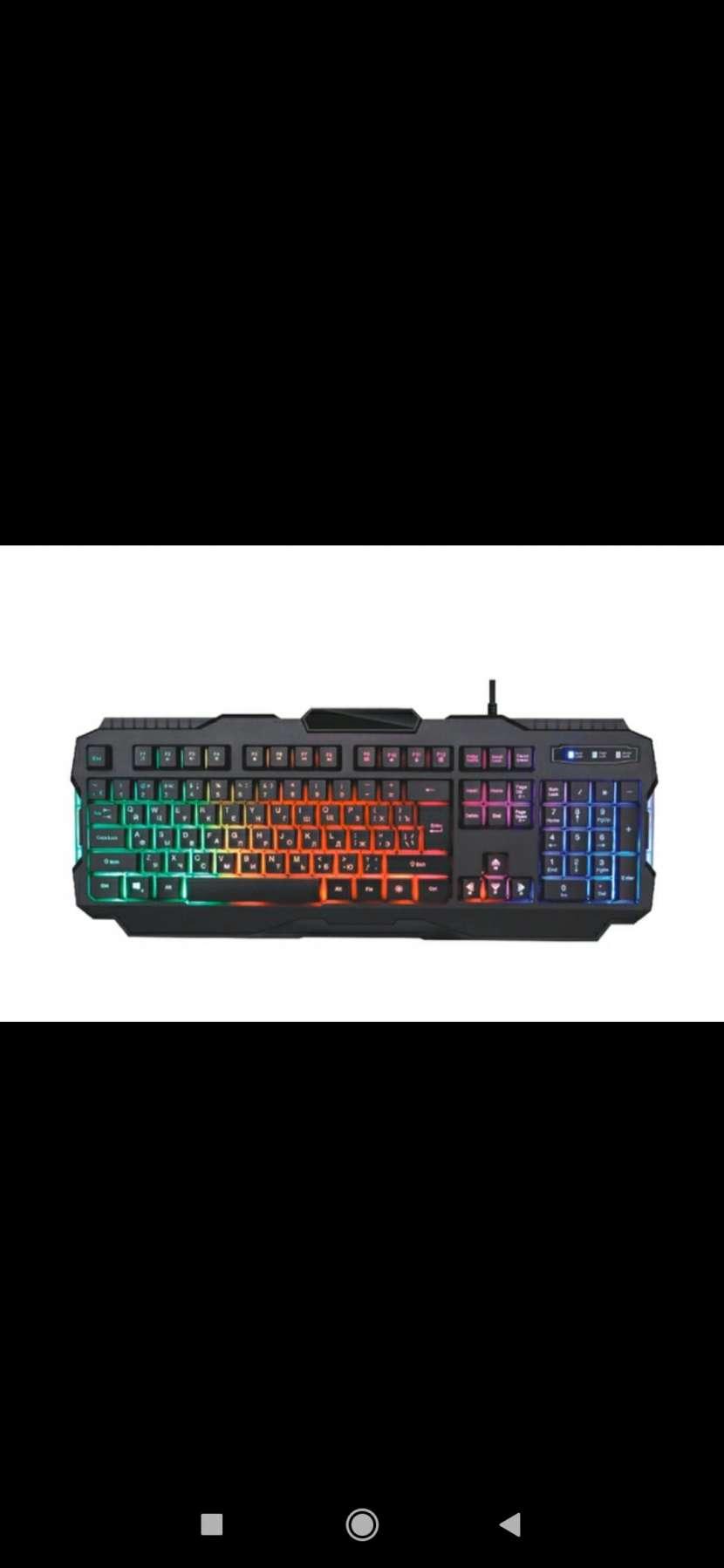 Teclado y mouse gamer - 1