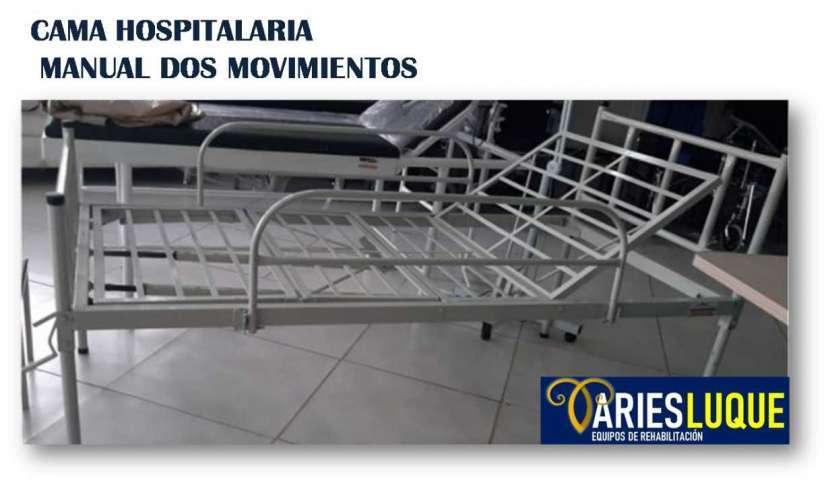 Cama hospitalaria manual dos movimientos - 0