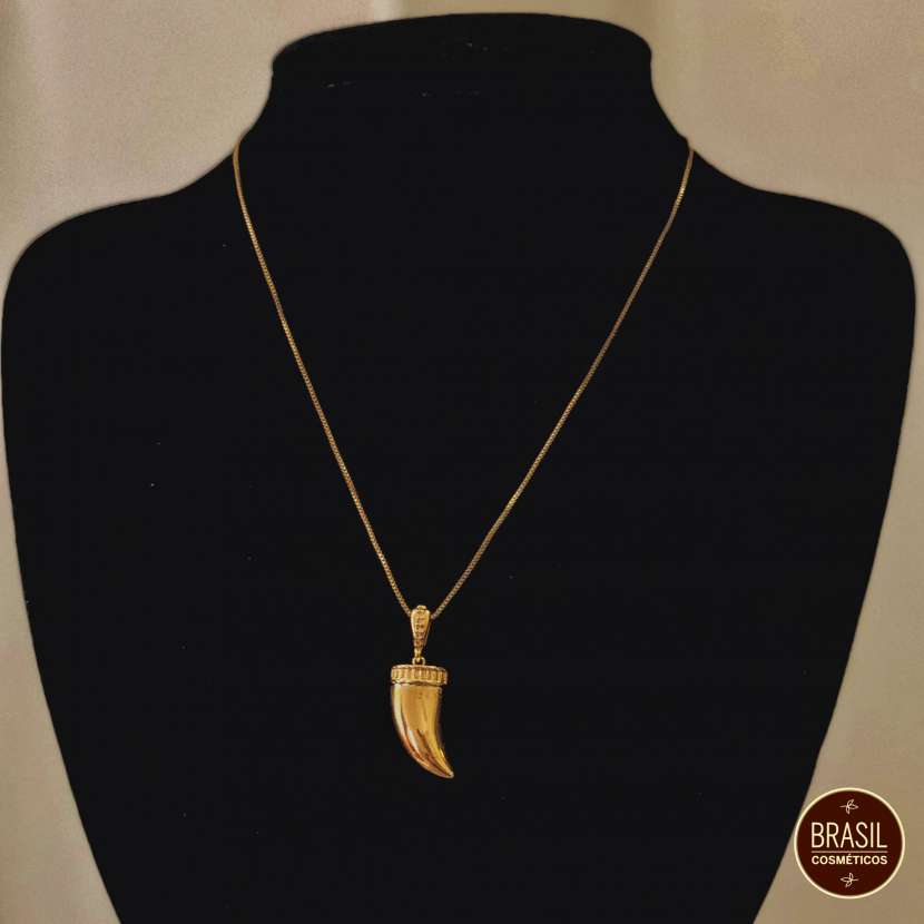 Collar de bijou fino colmillo - 0