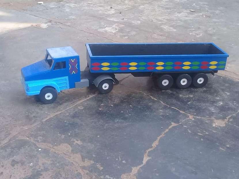 juguete Camión de carga de madera - 0