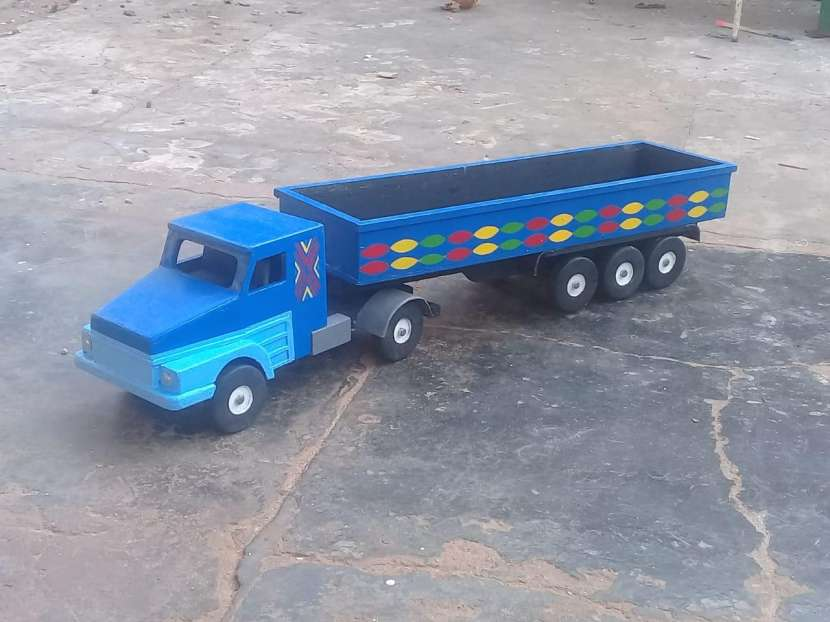 juguete Camión de carga de madera - 1
