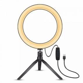 Aro LED con trípode de mesa