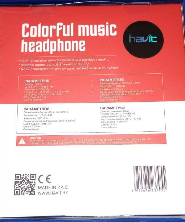 Auricular Havit HV-H2178D Estéreo en color rojo - 1