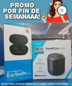 Speaker anker soundcore mini + earbuds xiaomi