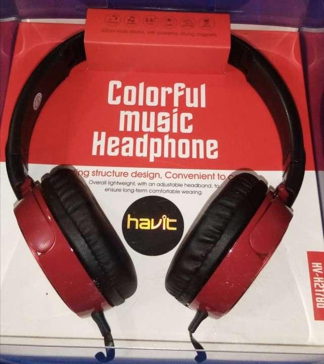 Auricular Havit HV-H2178D Estéreo en color rojo - 0