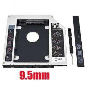 Caddy para segundo disco de notebook 2. 5 HDD Sata o SSD - 1