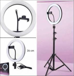 Aro de luz 26 cm con soporte para celular + trípode