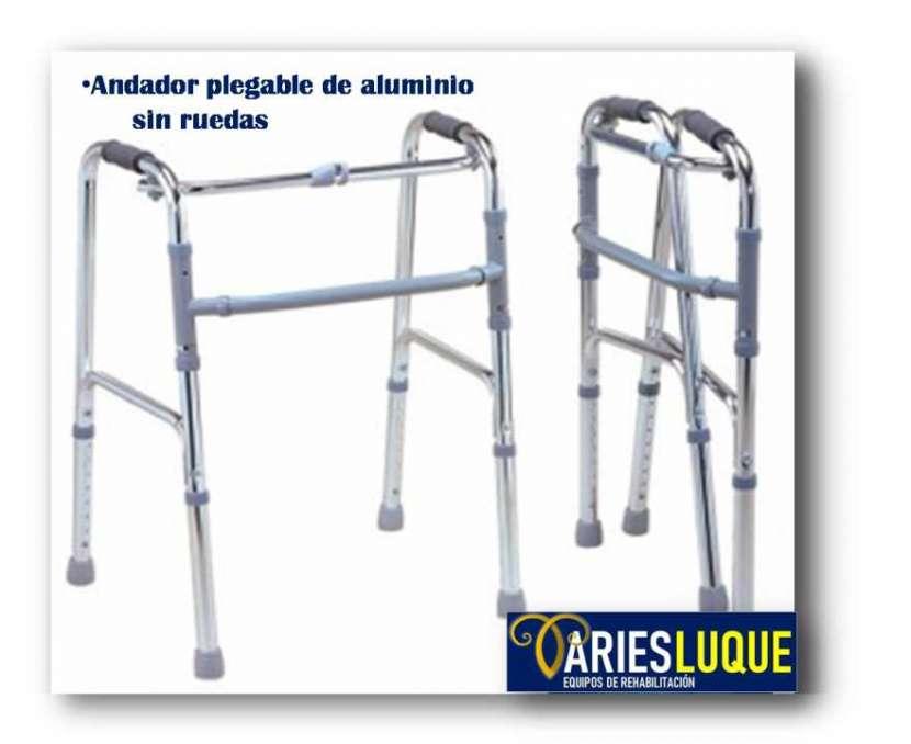 Andador plegable de aluminio - 0