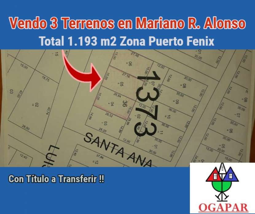 3 terrenos en Mariano Roque Alonso zona Puerto Fénix - 0