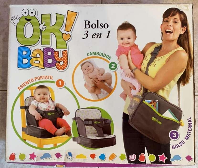 Cambiador, asiento portatil, bolso maternal - 0