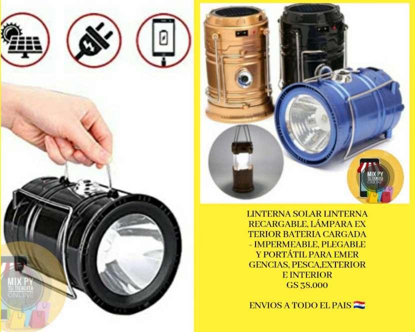 Linterna recargable eléctrico y solar - 0