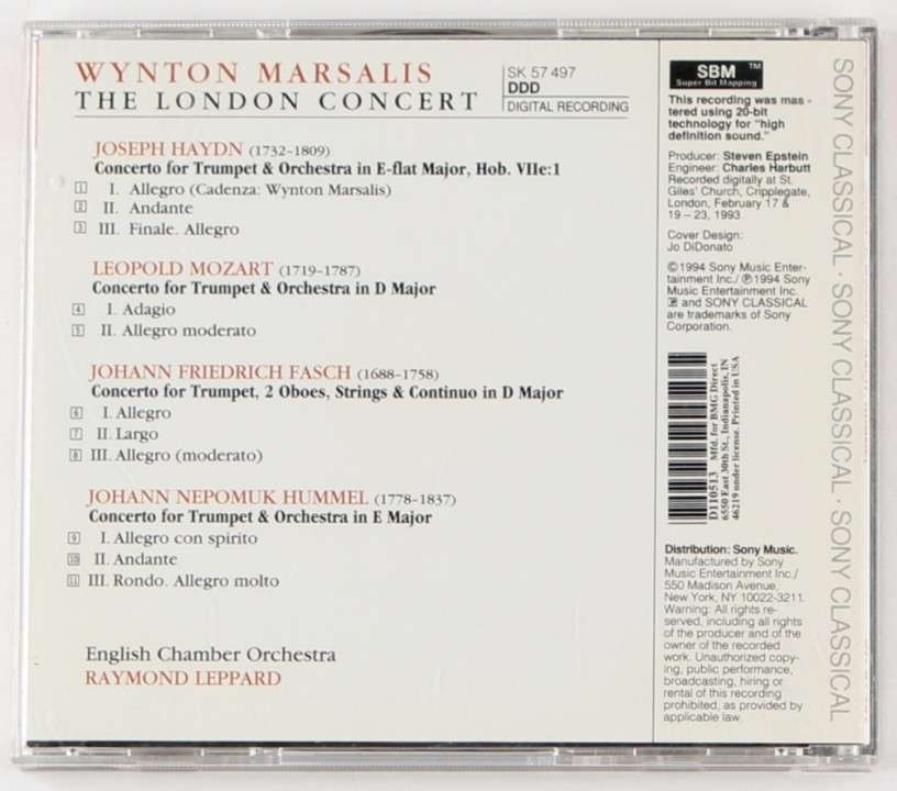 Wynton Marsalis London Concert CD Original - 1
