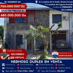 Duplex en Fernando de la Mora Zona Norte