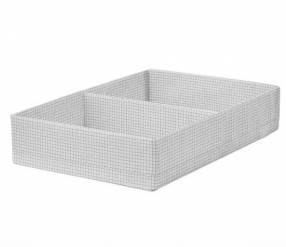 Caja organizadora con compart. 34x51x10 cm blanco/gris 2209