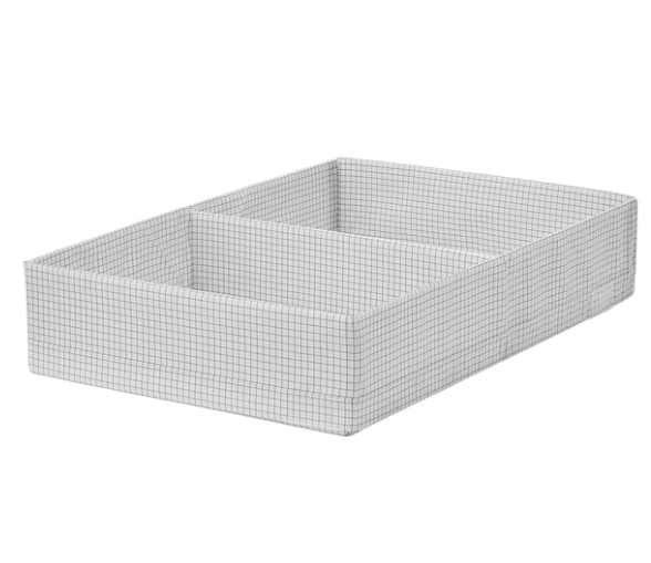 Caja organizadora con compart. 34x51x10 cm blanco/gris 2209 - 0