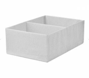 Caja organizadora con compart. 34x51x18 cm. blanco/gris Stuk