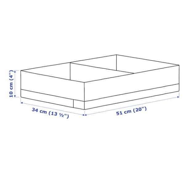 Caja organizadora con compart. 34x51x10 cm blanco/gris 2209 - 1