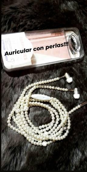 Auricular collar con Perlas