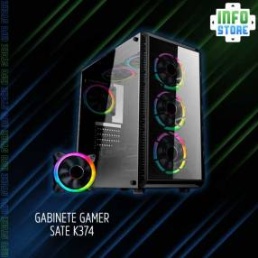 Gabinete Gamer RGB SATE K374