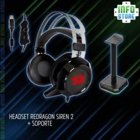 Headset Redragon Siren 2 H301 + Soporte