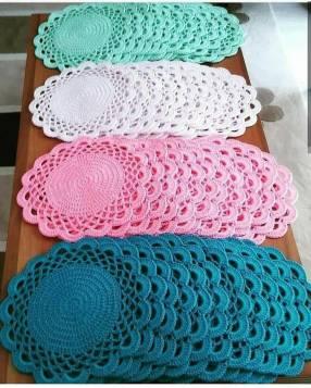 Individuales de mesa de Crochet